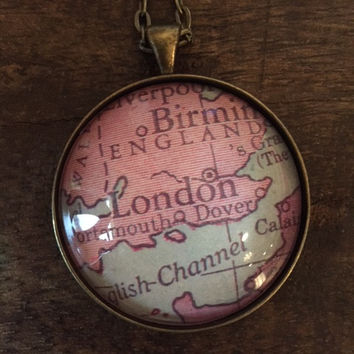 Map Necklace - London