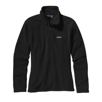 Patagonia Women's Micro D Quarter Zip Fleece- Black
