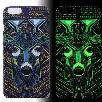 Zebra Raccoon Panda Luminous Light Up Case Cover for iPhone 5s / iPhone 6s / iPhone 6s Plus