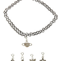 Multi Charm Tattoo Choker