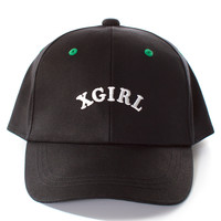 BLACK LOGO TWILL HAT | @X-Girl | VFILES SHOP