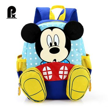 Kindergarten Children Backpack Mickey Minnie Mouse School Bag New Toddler School Bags Cartoon Backpacks for Boys and Girls Gifts
