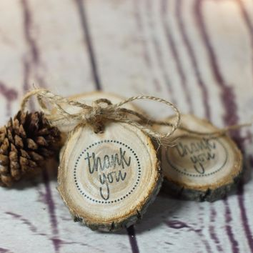 Rustic Wood Thank You Tag