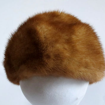 Vintage Mink Russian Roller Hat by Louise Peloquin