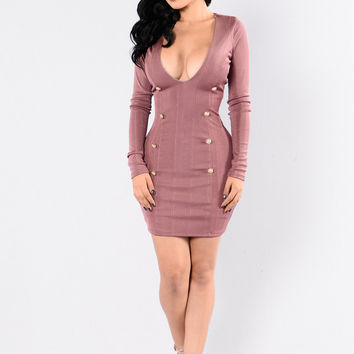 The Raspberry Beret Dress - Marsala