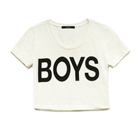Boys Crop Top