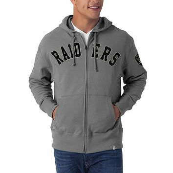 Oakland Raiders - Striker Full Zip Premium Hoodie