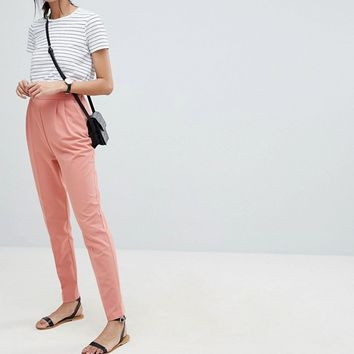 ASOS DESIGN Tall high waist tapered pants at asos.com