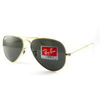 Ray Ban RB3025 Aviator Sunglasses-001/58 Gold Gold (Green Polar Lens)-55mm