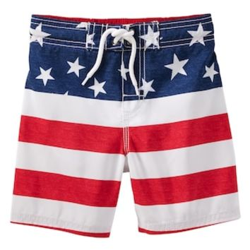 Toddler Boy OshKosh B'gosh® Flag Swim Trunks | null