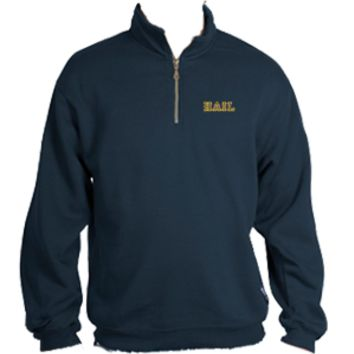 Hail Emb. 1/4 Zip - Navy