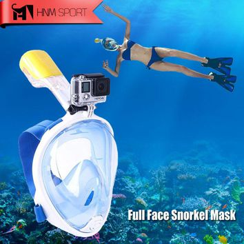 New Arrival - Scuba Diving Snorkeling Full Face Anti-Fog with GoPro Camera Underwater Mask