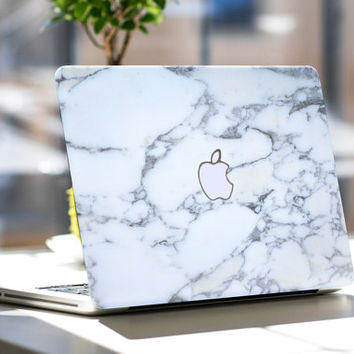 "Bianco Sivec White Marble Skin for Apple Macbook Air & Mac Pro Retina, New Macbook 12"" , Toshiba HP Dell Asus Acer Lenovo Samsung"