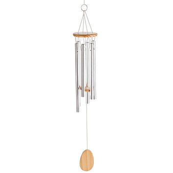 Wood and Aluminum Wind Chimes - 23.5 inches