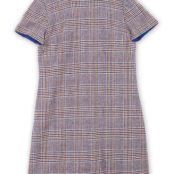 SOLD Vintage 1960s Check Pattern Short Sleeve Dress