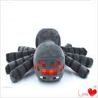 2015 New Arrival Minecraft Plush Toys 16CM Gray Spider Plush Stuffed Toys Kids Children Favor Dolls Cheap Plush Toy Boy Gift