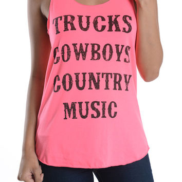 Truck Coybows Country Music Tank