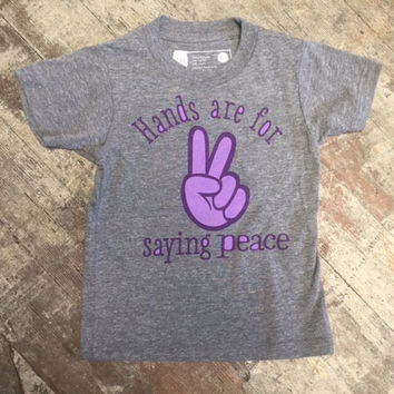 Hands are for saying Peace