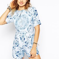 Motel Vienna Playsuit at asos.com