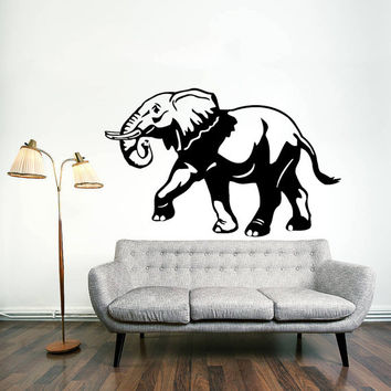 Wall Decal Vinyl Sticker Decals Art Home Decor Design Mural Elephant Animals Jungle Safari African Kids Children Nursery Baby Bathroom AN61