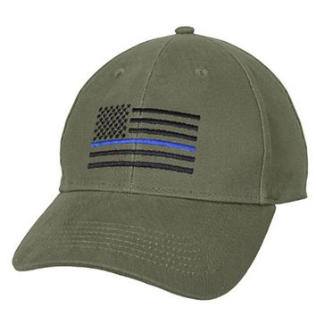 Law Enforcement Back the Blue Embroidered Cap American Flag Thin Blue Line Flag Low Profile Tactical Hats For Police