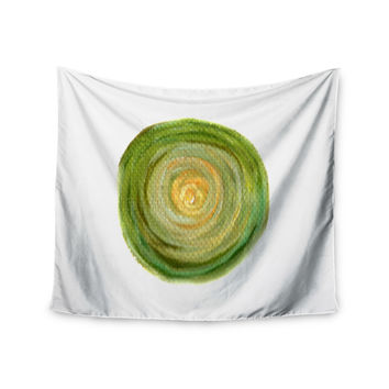 "Theresa Giolzetti ""Leeks"" Green White Wall Tapestry"