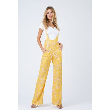 Easy Rider Overall Wide Leg Jumper - Touch Of Honey Floral Print