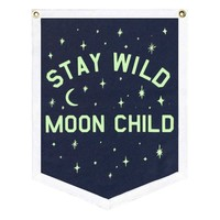 Stay Wild Moon Child Felt Banner (Glow-in-the-Dark)