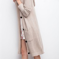 Soft and Cozy Long Cardigan with Hoodie