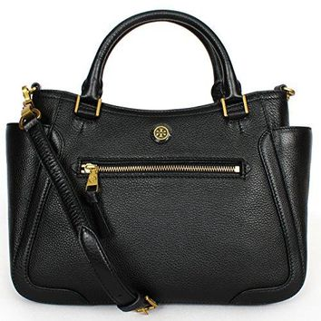 Tory Burch Women's Frances Small Satchel, Black, One Size