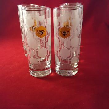 Jack Daniels Tennessee Honey Highball Glasses  S/8