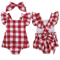 Newborn to 18 Months Infant Baby Girls Clothes Romper Jumpsuit Bodysuit Outfit