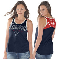 Houston Texans Ladies National Title Tank Top - Navy Blue/Red
