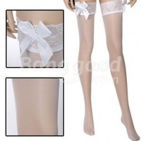 Wedding Dress Thigh high Stockings Bowknot Lace Top Free Shipping!  - US$4.58