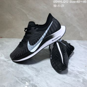 KUYOU N1007 Nike Zoom Pegasus Turbo 2 Off White Flex RN Knit Running Shoes Black