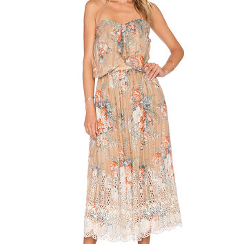 Zimmermann Anais Antique Dress in Nude Floral