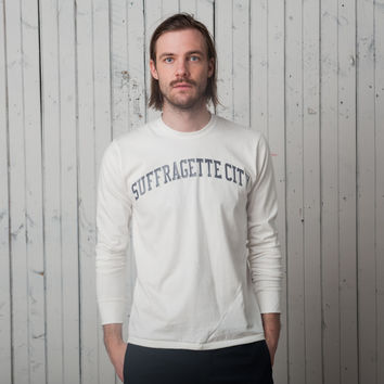 The Suffragette City T - Long Sleeve   Black on White
