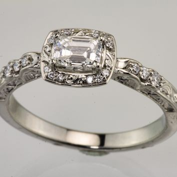 .52 Carat Emerald Cut Diamond ring