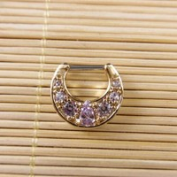 1 pcs 316L  piercing  Steel Tribal Septum Clicker Piercing Jewelry Indian Nose Ring Hoop Bone CZ  body jewerly