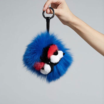JOCELYN | Fox + Rabbit Monster Keychain - Blue