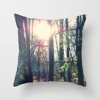 Forest Throw Pillow by Yoshigirl