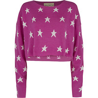 Wildfox Starlight Cropped Billy Sweater