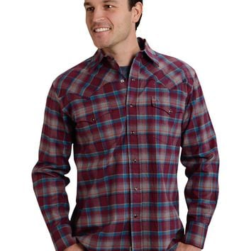 Stetson Original Rugged Brick Plaid Flannel