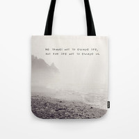 we travel Tote Bag by Sylvia Cook Photography