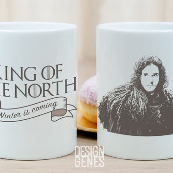 King of the North Jon Snow Game of Thrones mug