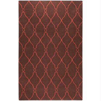 Area Rug - 8' X 11' - Colors Include Brick Red And Dark Chocolate