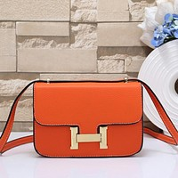 Hermès Women Fashion Leather Tote Satchel Crossbody Shoulder Bag