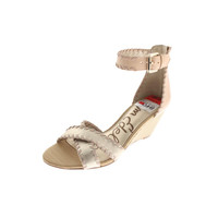 Sam Edelman Womens Silvia Leather Ankle Strap Wedge Sandals