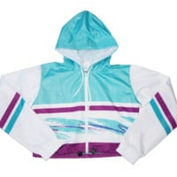 90s Cup Crop Windbreaker