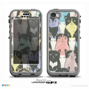 The Vintage Cat portrait Skin for the iPhone 5c nüüd LifeProof Case